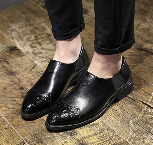 LEDLFIE Chaussures Formalwear British Pointed Business Casual Hommes Casual Chaussures Marée Black NeFQB