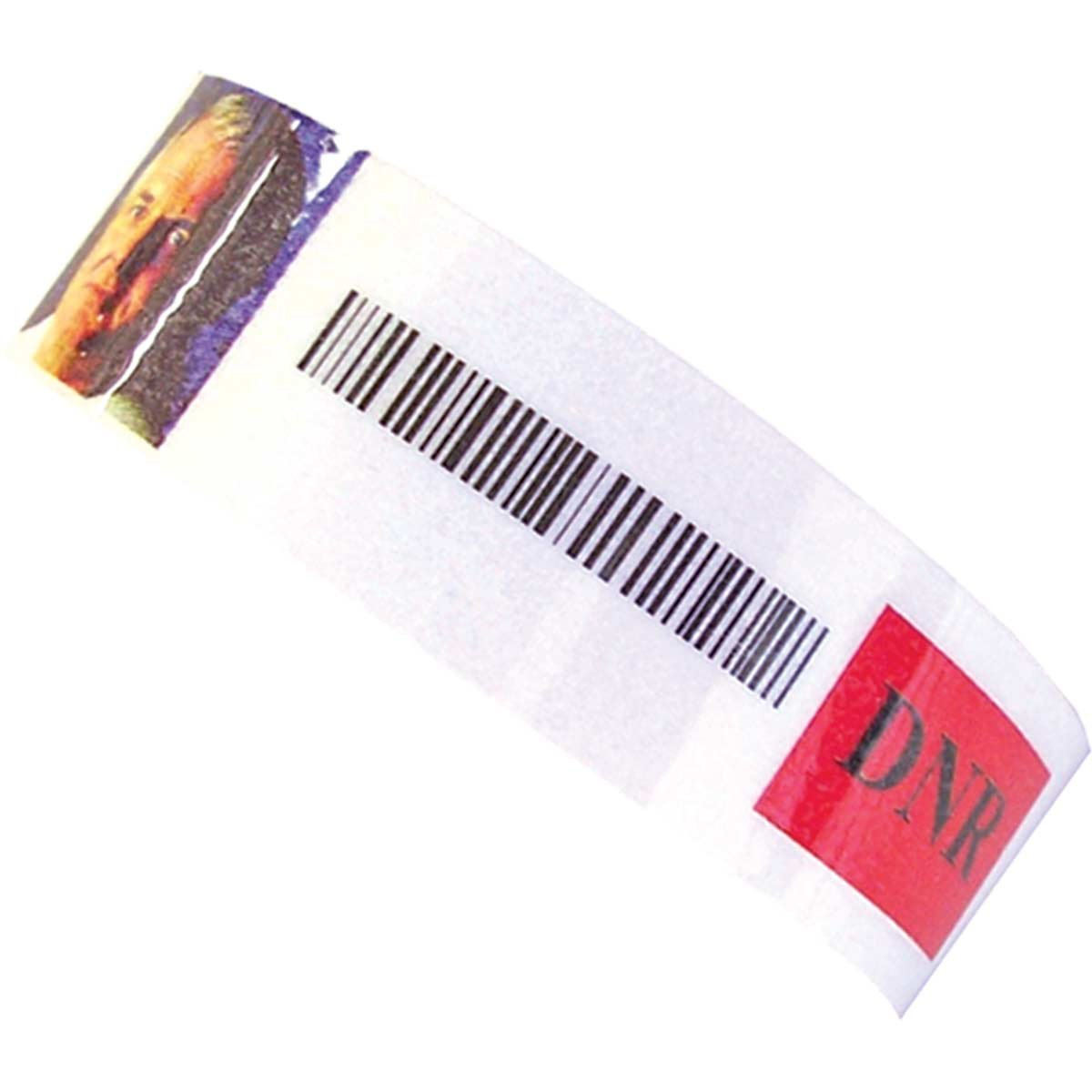 PDC Healthcare Confident EMARWB1 Paper Adult Wristband and Labels for Laser Printers, Supports Text, Adhesive Closure, White (Case of 20000)
