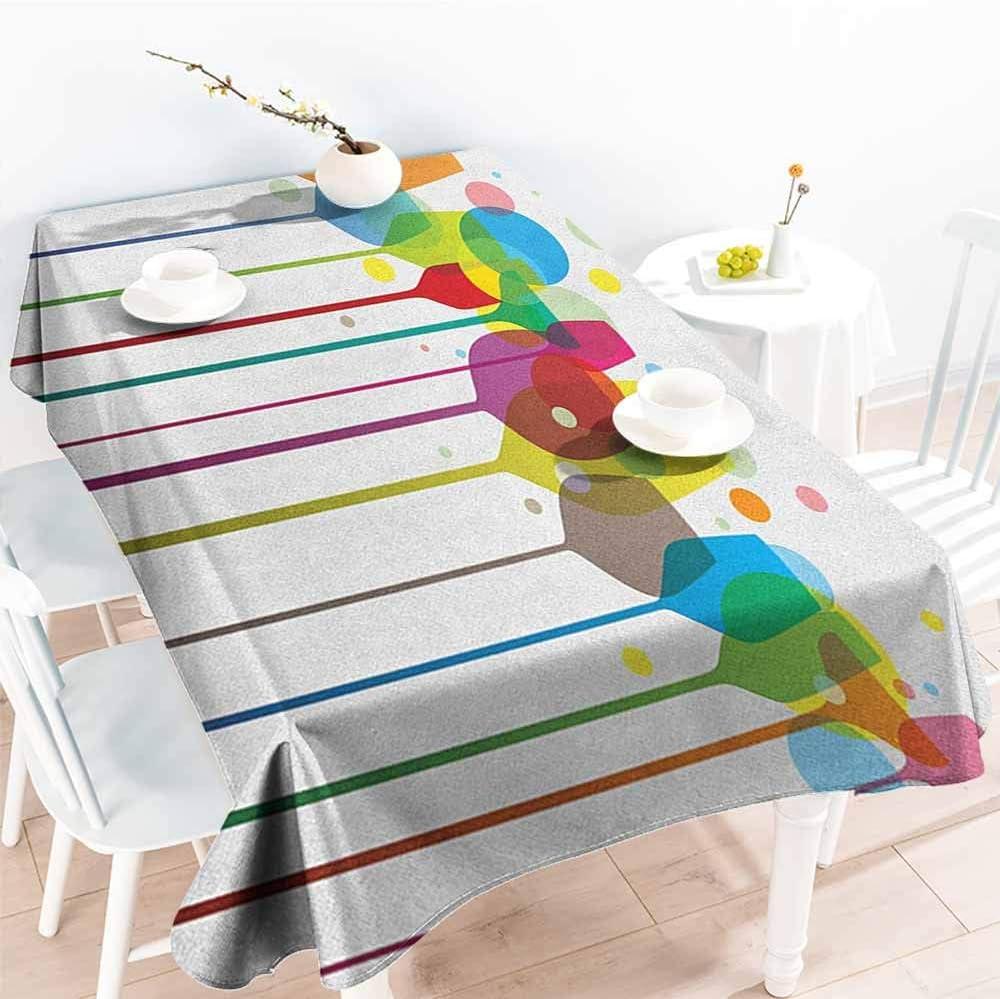 familytaste, Mantel Decorativo con diseño de Botellas y Copas de ...
