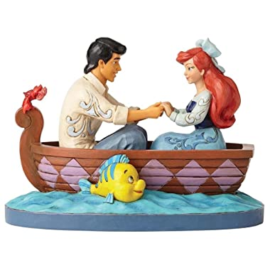 Disney Jim Shore Traditions by Enesco Ariel and Prince Eric in Rowboat Figurine