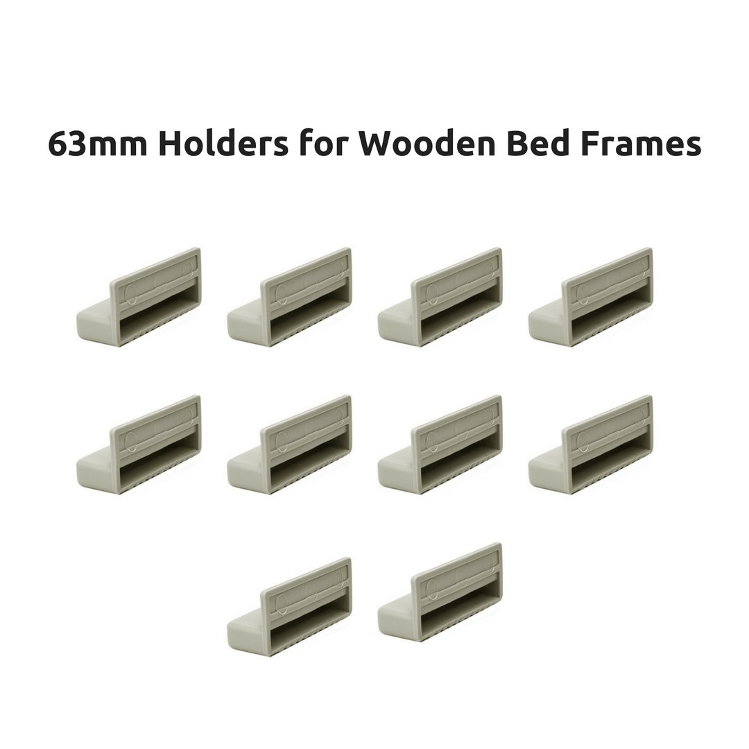 63mm Single Bed Slat Holders Caps for Wooden Frames (Pack of 10) The Bed Slats Company