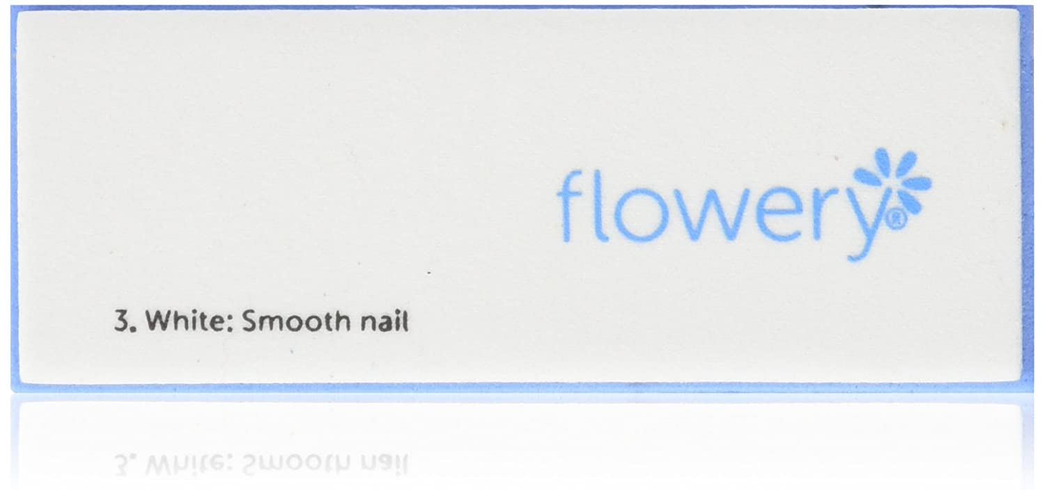 Flowery Nail Buffer Blue Max 1-Count 4WB-1-1