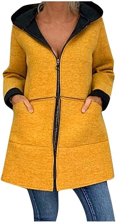 Poachers Abrigos Mujer Invierno Rebajas Talla Grande Color sólido ...