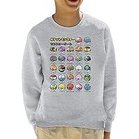 Cloud City 7 Types of Pokeballs Pokemon Kid's Sweatshirt