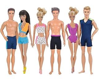 Kitty princess Costume da bambola 6 pezzi Costume da bagno per bambola Barbie e Barbie Boyfriend ken