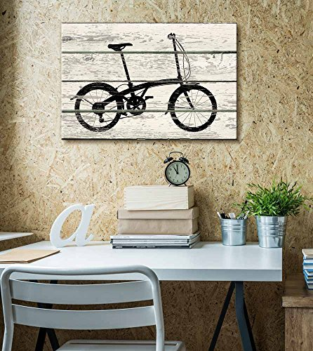 Bicycle Bike Silhouette II Artwork Rustic