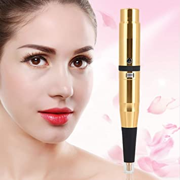 3b643b44b1cac Amazon.com: Rechargeable Eyebrow Tattoo Pen, Electric Rotary Microblading  Pen, Comestic Tattooing Machine Microblading Needle Pen with Super Quiet  Motor for ...