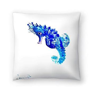 Amazon.com: american flat azul caballito de mar almohada ...