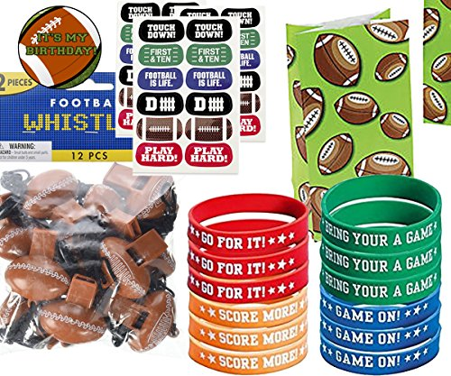 Football Party Favors for 12 - Football Whistles