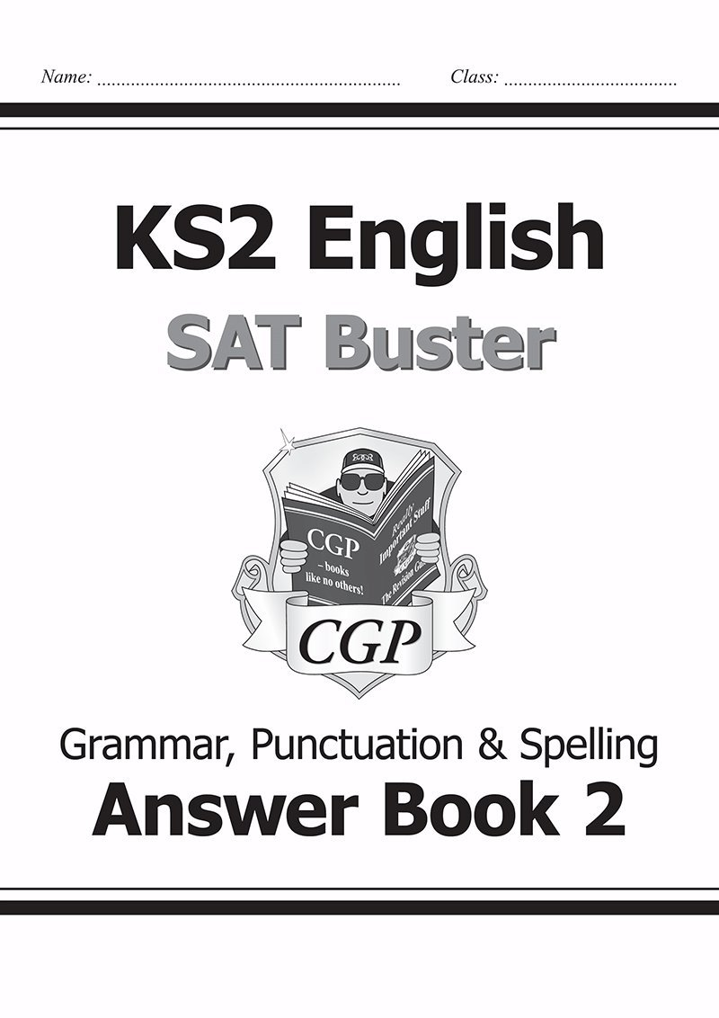 Ks2 english sat buster book 2 answers grammar punctuation spelling for the 2018 tests amazon co uk cgp books 9781782942764 books
