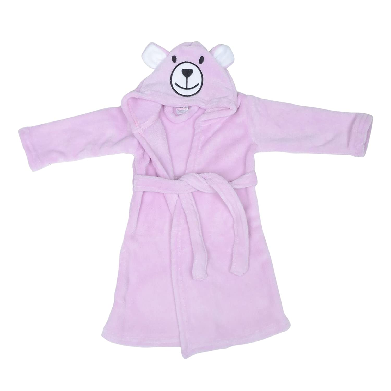 The Cookie Company Baby Toddler Bath Robes House Coats Dressing Gowns Bear Ears Pink/Blue/Grey