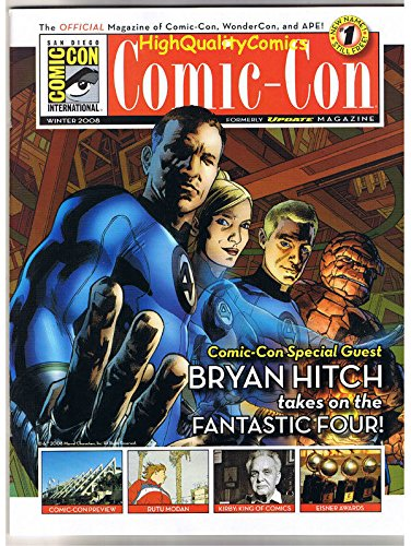 SDCC MAGAZINE for 2008, NM, Fantastic Four, Byran Hitch, San Diego Comic Con