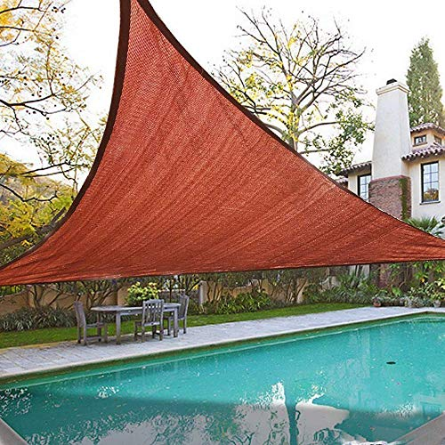 (Quictent 185G HDPE Triangle Sun Shade Sail Canopy 98% UV Block Top Outdoor Cover Patio Garden Sand (18 x 18 x 18 ft, Terracotta) )