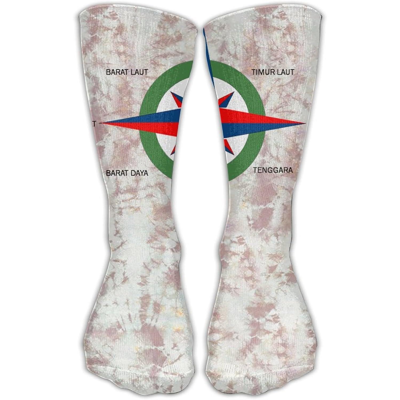 Design Gambar Arah Mata Angin Kompas Stylish Art Knee High Socks For