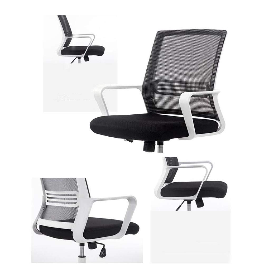 Kontorsstol DALL dator skrivbordsstol ergonomisk 360 graders vridbar nät baksida affärsuppgift stol (färg: Grön) Svart