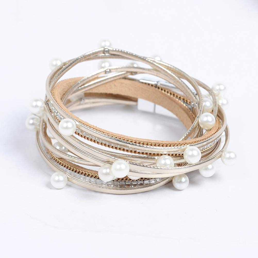 Artilady Shinning wrap Clasp Bangle Women AB001