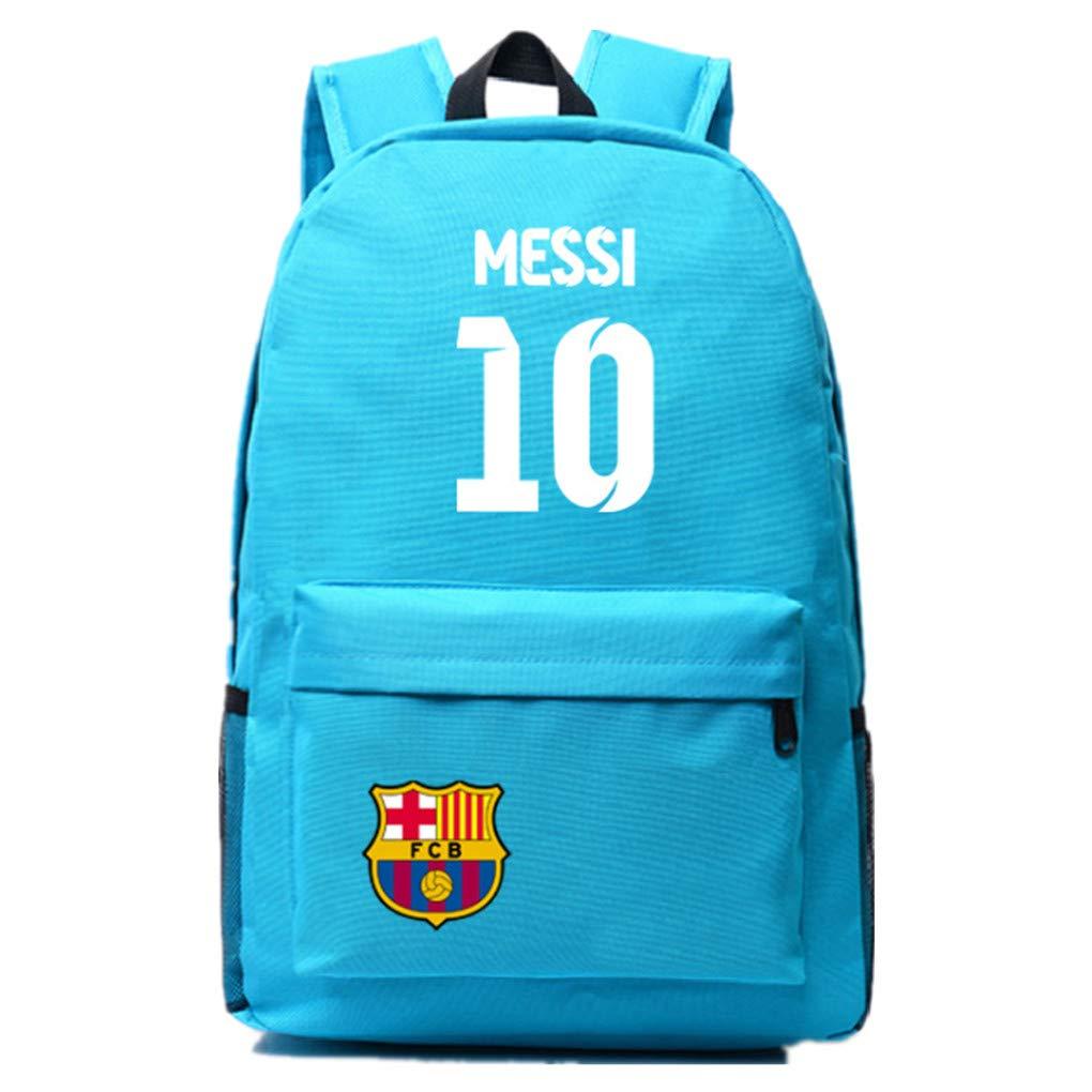Barcelona Fans Backpack - Lionel Messi #10 Barcelona Rucksack for Back to School Noctilcent Bag (Messi Purple)