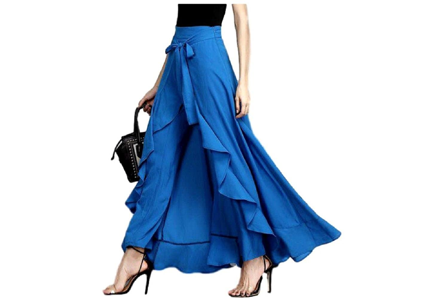 2056129d088e JB&D Rayon Palazzo Skirt (Royal Blue): Amazon.in: Clothing & Accessories