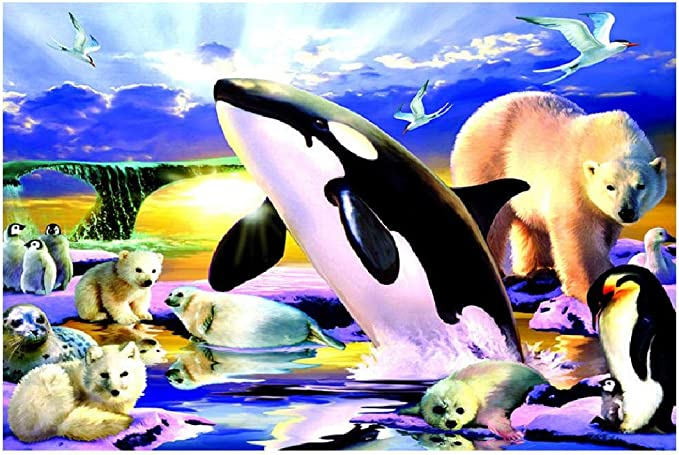 1000 pieces Puzzle Fox Polar Bear for Children Adult Pressure Relief Toys Puzzle