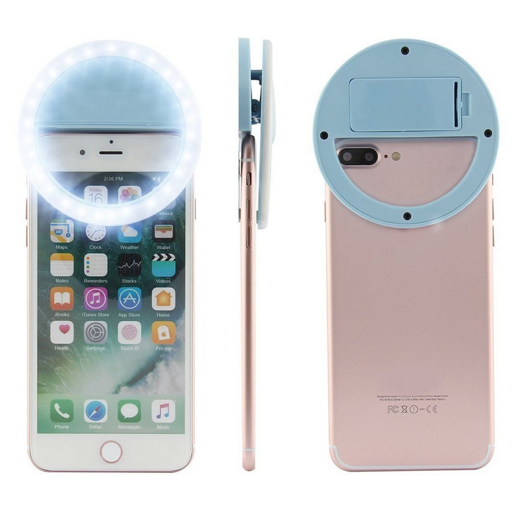 iPad Laptop Camera Portable Selfie Ring Light Clip Rechargeable 36 LED Bulbs Adjustable Selfie Lighting Portable for iPhone Tablet
