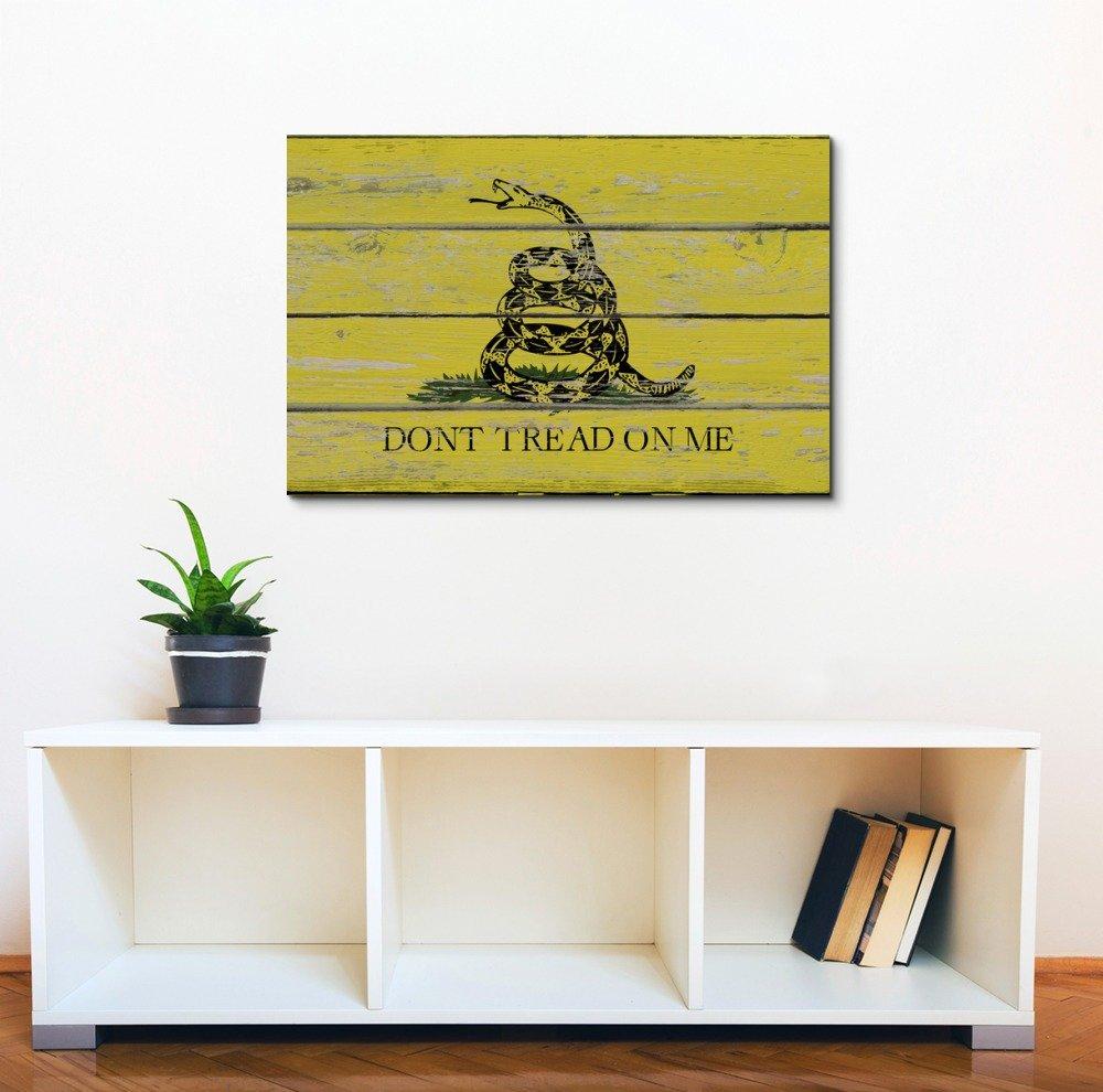 Amazon.com: Wall26 - Canvas Prints Wall Art - Gadsden Flag /Don\'t ...