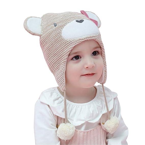 Arcweg Cappello Bambina Invernale Bambino Berretti Maglia Termico Pile  Animali Forma con Orecchie Paraorecchie per Bambini E Ragazzi 40-54Cm   Amazon.it  ... 35f12c179b8e