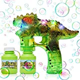 Best Bubble Guns - YIZI Dinosaur Bubble Gun Bubble Blower with LED Review
