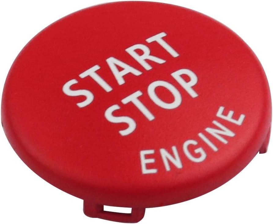 Maxiou Start Stopp Taste Für E Chassis 1 3 5 6 Start Stopp Knopfkappe Der Serie X1 X3 X5 X6 Motorschalter Zündung Ersetzen Schwarz Blau Rot Auto