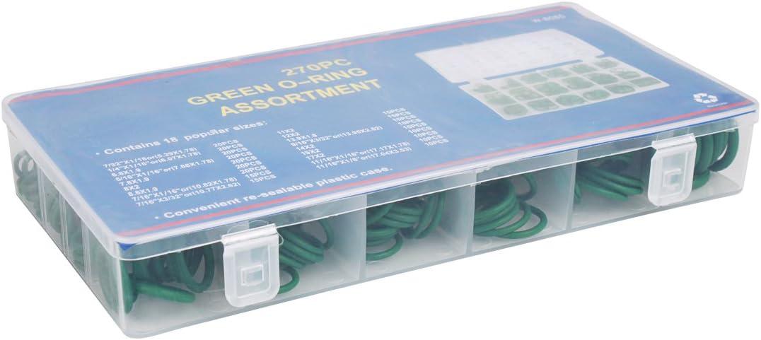 Green Andux O-Ring Assortment 270pcs Kit Insulation Gasket Washer Seals QC-MFX01