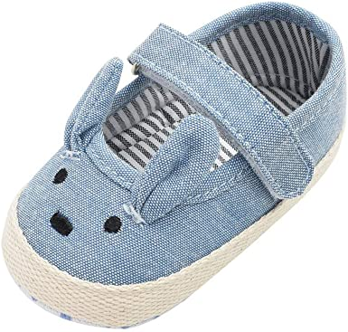 Infant Walking Shoes,Baby Girl Boys Soft Sole Crib Toddler Shoes Canvas Rabbit Printed Sneaker