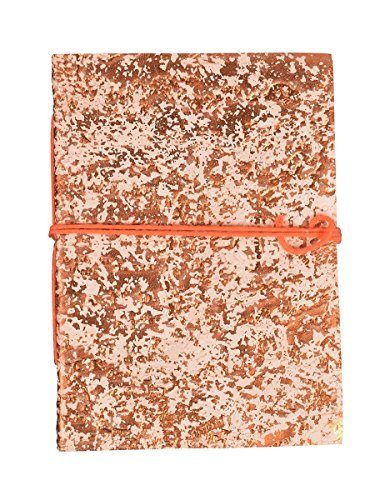 [Fathers Day Gifts Embossed Leather Covered Journal Diary Composition Blank Personal Notebook Travel Record Book Sketchbook 7 x 5 Rustic Design Unlined 96 Pages Office Paper Supplies] (Customs For Halloween Ideas)