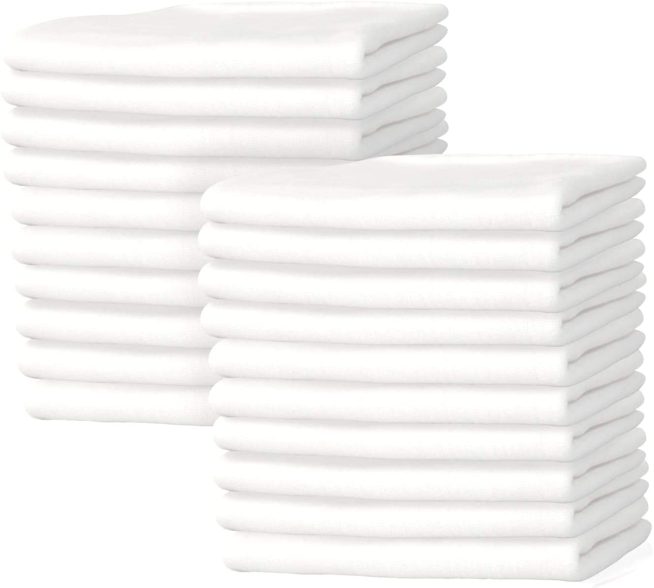 New Premium White T-Shirt Knit Rags, 100% Cotton, Cloth Rags, Excellent for General Cleaning, Spills,Home,Staining,Polishing, Bar Mop & More by Nabob Wipers (White Knit, 1 Lb Bag)