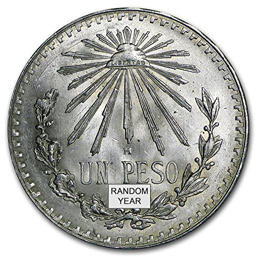 1920 MX - 45 Silver Mexican 1 Peso Cap & Rays Avg Circ (ASW .3856 oz) Silver Very Good