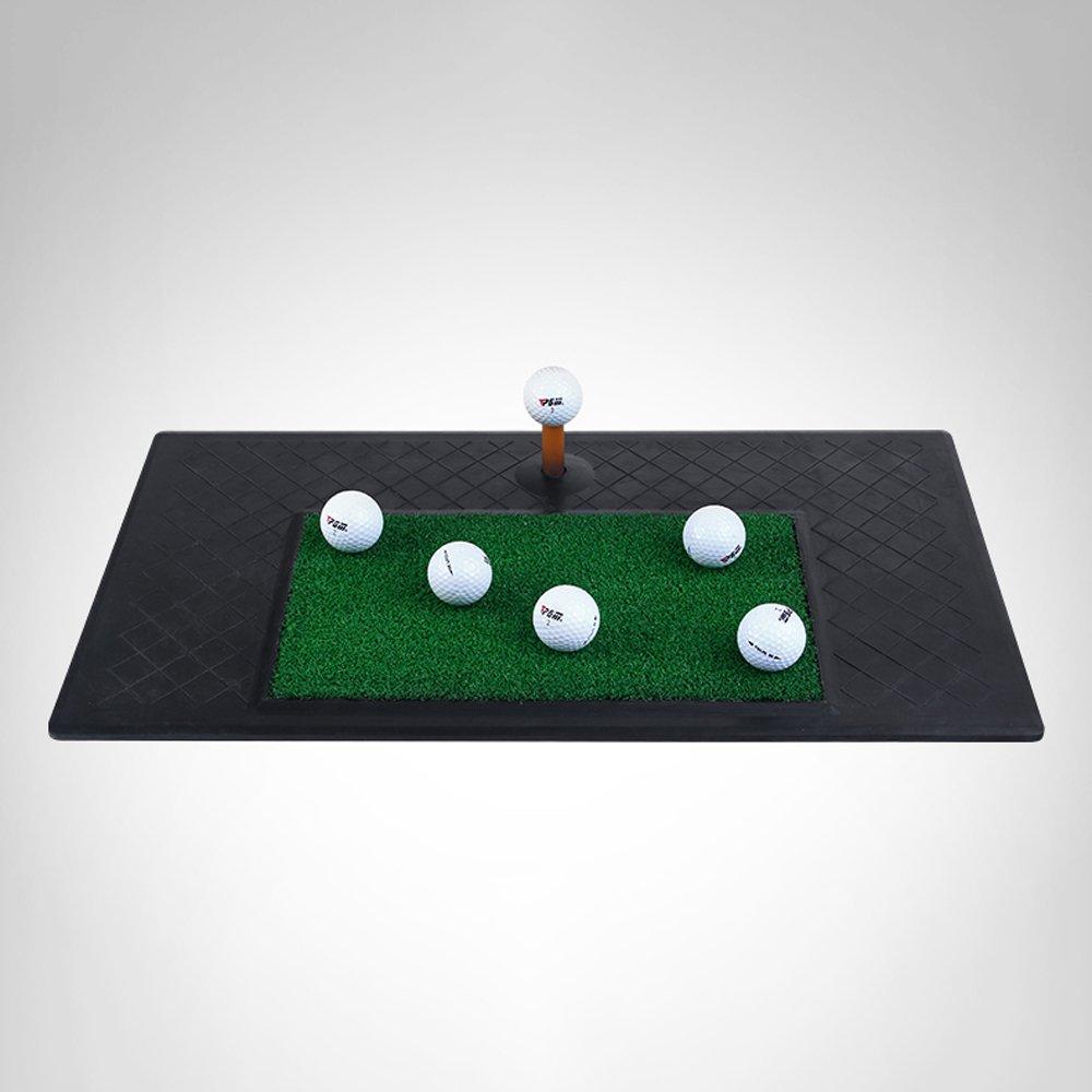 ゴルフマットPHTW HTZラバーヒットパッド室内練習マットスイングボールパッド持ち運びが簡単ボールT 61cm * 34.5cm Aに挿入することができます   B07GF5JGKM