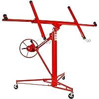 Artist Hand Drywall 11' Lift Hoist Panel Jack Lifter Caster Wheel Construction Tool Red