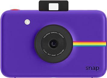 2aef0cecfb Polaroid Snap - Cámara digital instantánea, tecnología de impresión Zink  Zero Ink, 10 Mp, micro SD, fotos de 5 x 7.6 cm, Púrpura: Amazon.es:  Electrónica