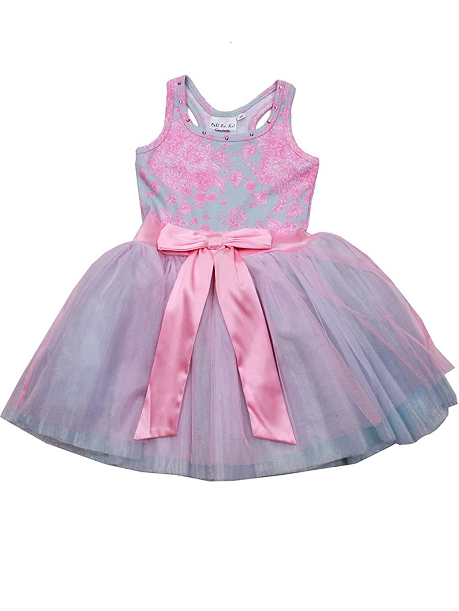 965106fcb7aa Amazon.com: Ooh la la! Couture Pink Tie Bow Dress (2T, Pink): Clothing