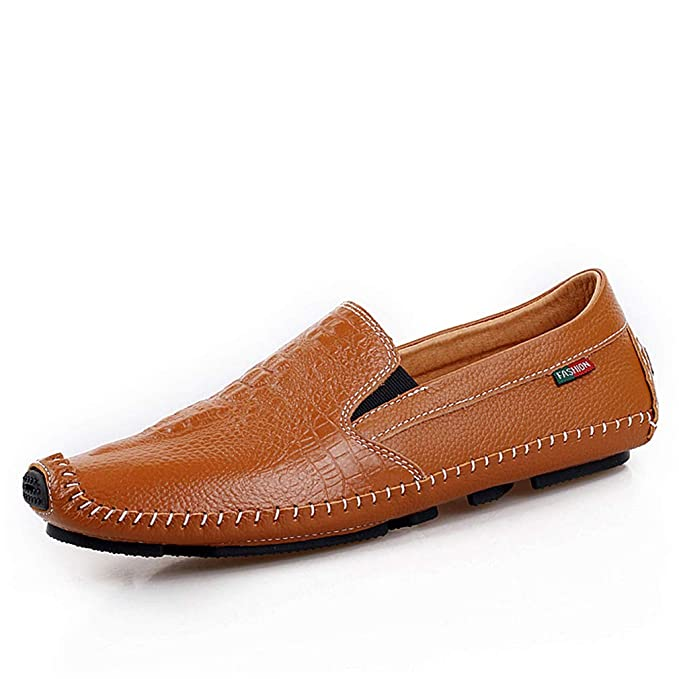 YAN 2018 Zapatos De Hombre De Cuero Verano/Otoño Mocasines Y Slip-Ons Negro/Marrón/Azul/Zapatos De Cuero Mocasines Comodidad, C,41: Amazon.es: Ropa y ...