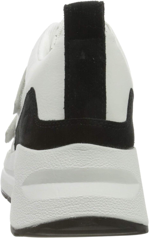 Geox D Backsie B, Scarpe da Ginnastica Basse Donna Bianco White Black C0404