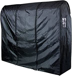 HANGERWORLD Black 6ft Waterpoof Nylon Zip Clothes Rail Cover Hanging Garment Storage Display
