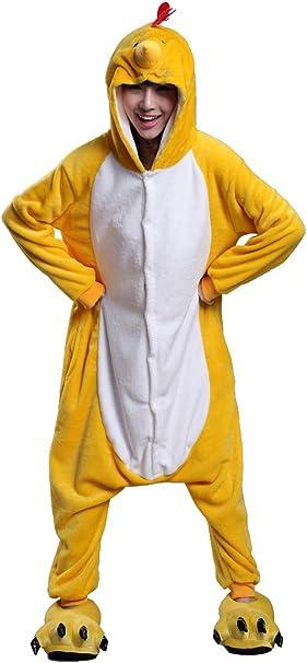 FashionFits - Disfraz de pollo unisex de una sola pieza y tamaño ...