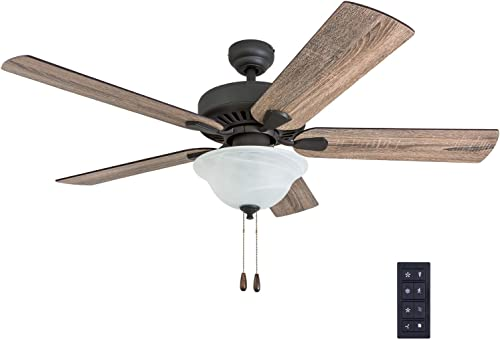 Prominence Home 50761-01 Canyon City Farmhouse Ceiling Fan 3 Speed Remote