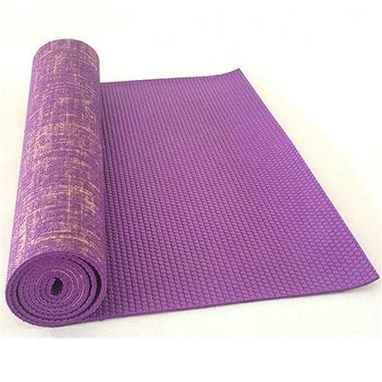 QQSGBD Alfombrilla de Yoga de Yute Antideslizante PVC ...