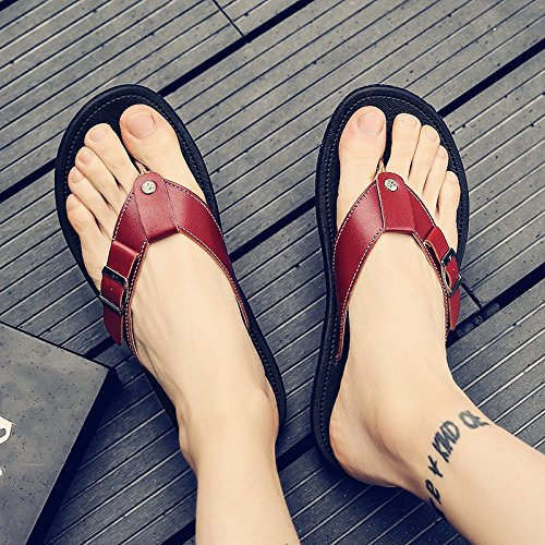 Sandals Beach fankou Clip and Men Sandals Male Drop Toe Slippers Tide Drag 42 Summer Men's Student Brown Shoes Casual Field Male tXpqFpwrxn