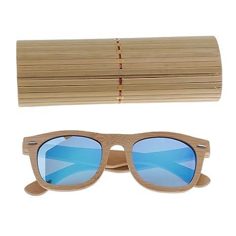 3d0adb2bf68983 Homyl Lunette de Soleil Uv 400 Unisexe + Boîte de Rangement Verre Étuis  Soleil Protecteur - Boîte Bleu, 140mm  Amazon.fr  Vêtements et accessoires