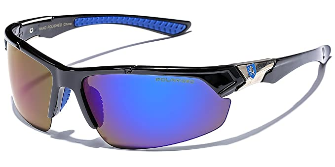 df0614f772 Polarized Premium Men s Half Frame Baseball Cycling Water Sports Sunglasses  with Color Mirrored Lens