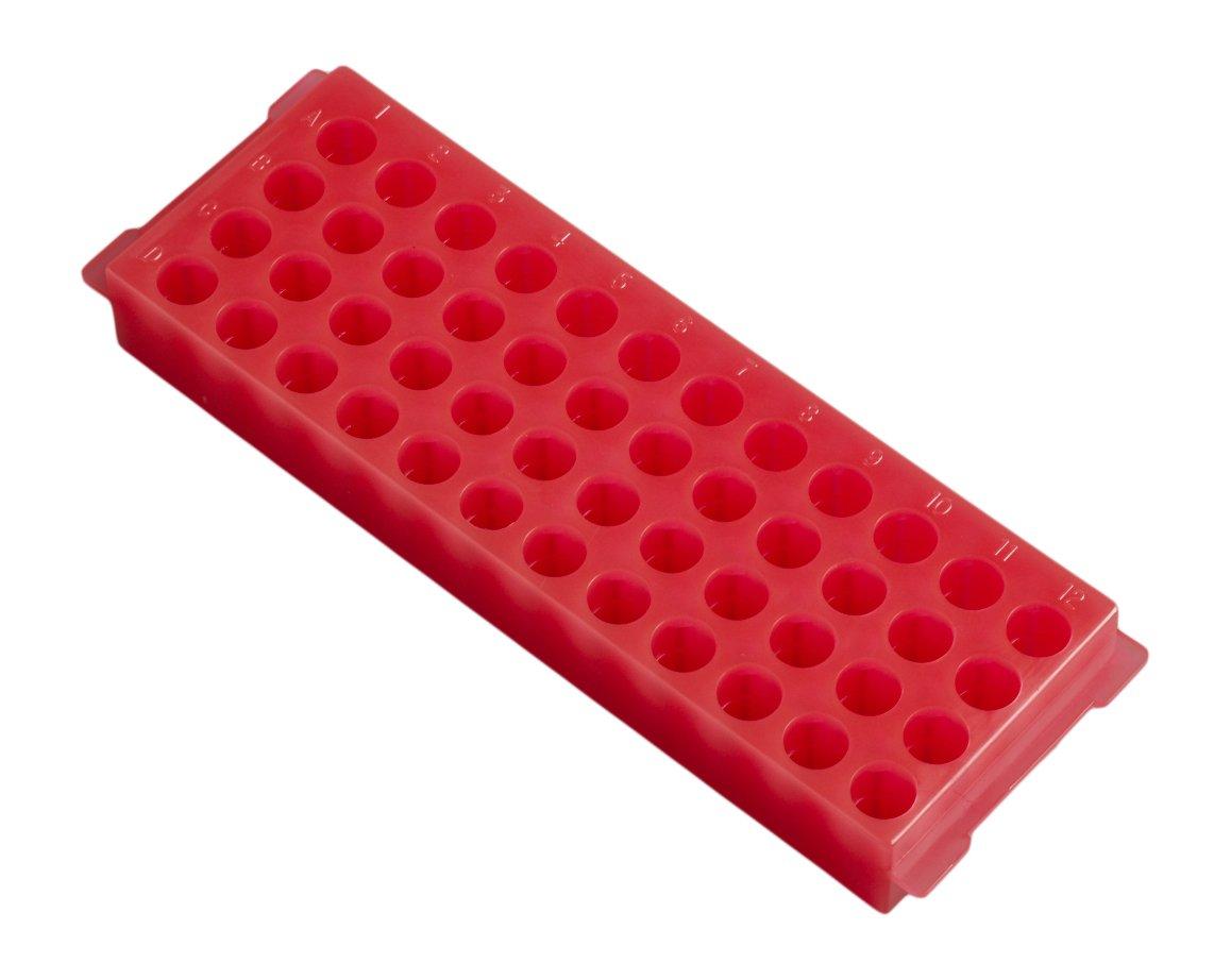 Camlab Plastics RTP/7110-48G 48 Well Polypropylene Reversible Rack, Green 1146446
