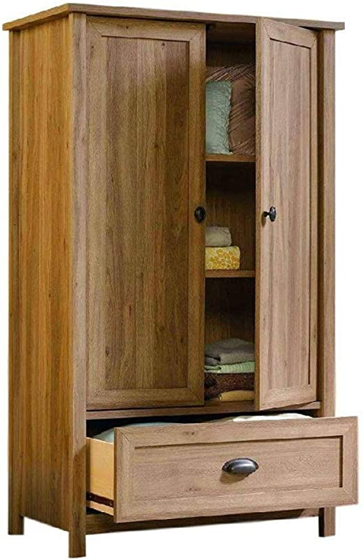 Amazon.com: Armoire Wardrobe Closet Wood for Bedroom Oak 2 ...
