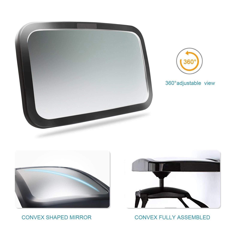 Amazon.com: Asiento trasero posterior del espejo por Freddie ...