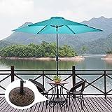 NatureFun Patio Umbrella Stand Base Resin Bronze